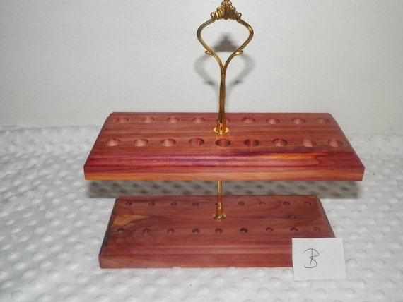 1 New Handmade Crochet Hook Stand / Holder  made out of Cedar wood
