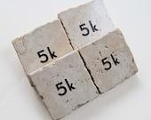 5k Race Tile Magnet for Runner Walker