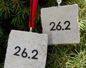 Marathon Runner Tile Ornament 26.2