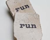 run Square Tile Magnet For Runner