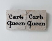 Carb Queen Square Tile Magnet For Athlete