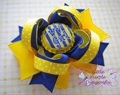 WVU Girl Boutique Mini Hair Bow West Virginia