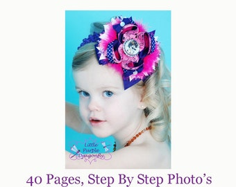 Complete Boutique Style Hair Bow Instructions Tutorial