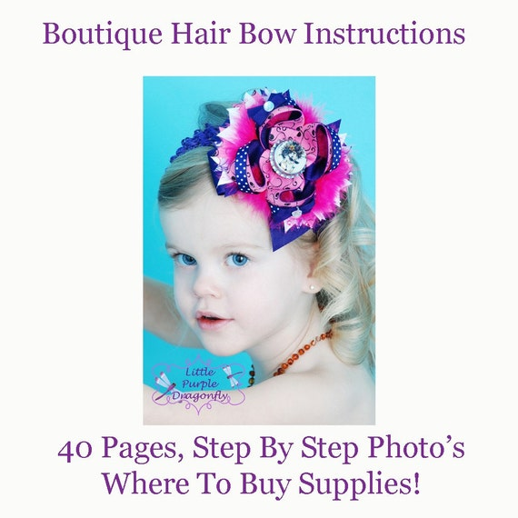 boutique style hair bow tutorial complete boutique style hair bow by littlepurpledragonfl 6832