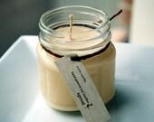 Warm Vanilla Soy Candle - 8 Ounce Mason Jar