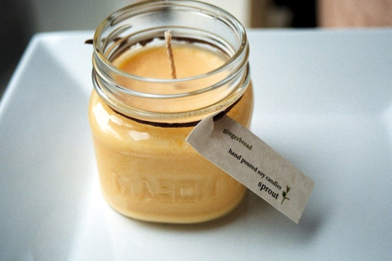 Gingerbread Soy Candle - 8 Ounce Mason Jar