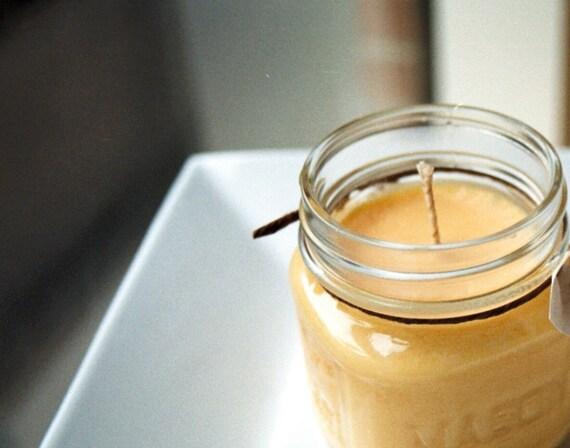 Peach Soy Candle - 8 Ounce Mason Jar