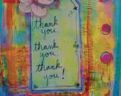 Thank You 5 X 7 inch Greeting Card