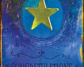 Gold Star - Paper Goods Greeting Card - Congratulations Good Job Graduation Encouragement - Royal Blue, Cobalt, Golden