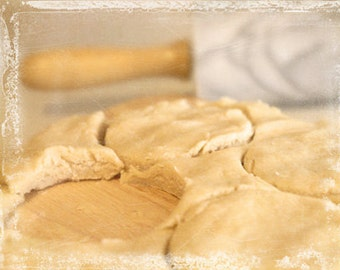 Biscuit Maker - Food Photography Collection, Still Life, Wall Decor, Fine Art Kitchen Decorating Idea, Beige, Ivory, Gray, Baking, Foodie