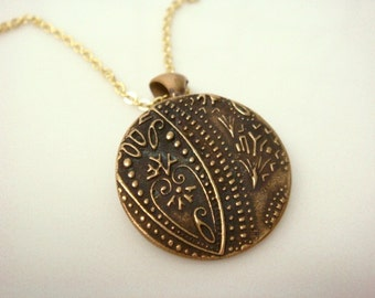 Bronze Paisley Necklace