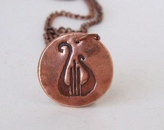 Lyre Copper Necklace - Alpha Chi Omega