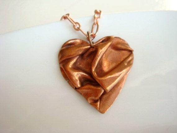 Copper Draped Heart