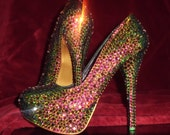 Swarovski Crystal shoes size 7.5 by Y. Jaiselle