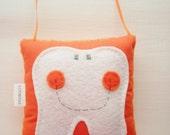 Orange Tooth Fairy Pillow