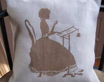 Stitching Lady Brown Pillow Sham