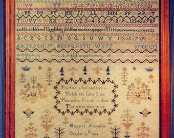 Margaret Alexander Reproduction Sampler ~ Cross Stitch Pattern
