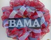 Alabama Crimson Tide mesh wreath Bama deco mesh wreath