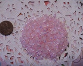 Light pink acrylic rhinestone  4 mm  more than 100 pcs     USA seller