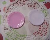 Kawaii miniature round plate for your handmade accessory    2 pcs