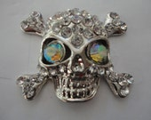 Sparkling metal skull charm decoden deco diy  1 piece ---USA seller