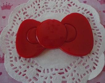 Sale--Kawaii jumbo red bow   80 mm---USA seller