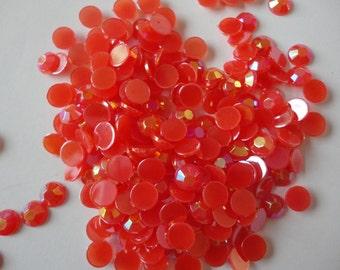 Red acrylic rhinestones decoden deco diy   6 mm    more than 50 pcs---USA seller