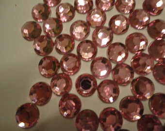 Light pink acrylic rhinestone decoden deco diy 8mm  more than 50 pcs---USA seller