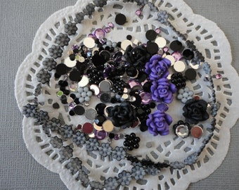 Black and Purple DIY decoden kit    more than 200 pcs---USA seller
