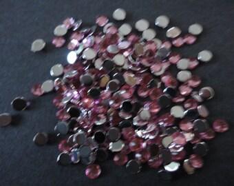 Kawaii Pink rhinestone  decoden deco diy 3 mm  more than 100 pcs---USA seller