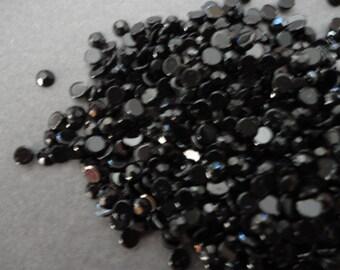 Black acrylic rhinestone decoden deco diy  3 mm    more than 100 pcs---USA seller