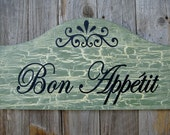 Bon Appetit - Distressed Wooden Sign