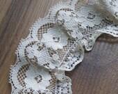 SALE 4 Feet Beige Ruffled Lace (A) Was 2 Dollars