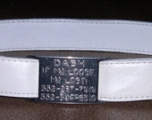 Leather Custom Tag Collar for Greyhounds - Pearl
