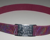 Leather Custom Tag Collar for Greyhounds - Plum Iridescent Lizard