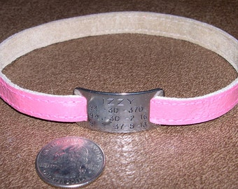 Italian Greyhound or Whippet Leather Custom Tag Collar