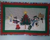 Snowman Family Christmas Table Runner