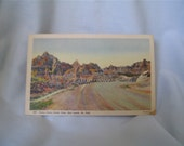 1930's Linen Postcard Cedar Pass, Bad Lands, SD
