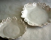 Two Shabby chic, vintage styled dishes