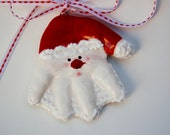 3 -D Santa Hand ornament  includes the mold age to 6yrs