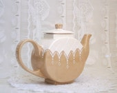 Victorian styled teapot hand painted