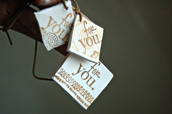 Scented ornament gift tag