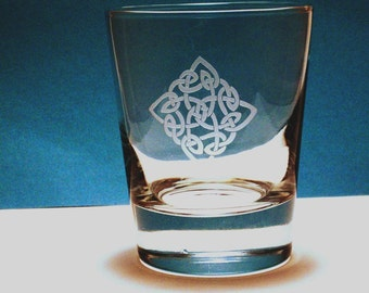 2  Old Fashioned Glasses - Celtic Diamond