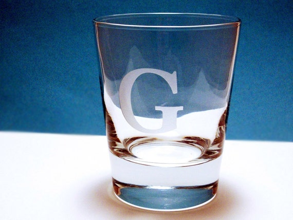 1  Old Fashioned Glass - Personalized Initial