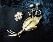 DO NOT Purchase: Special Order - Vintage Van Dell Gold Filled Floral Brooch w/ Sterling Silver Finish