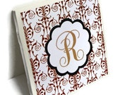 Custom Monogrammed Handmade Tile Coasters Set of 50 Wedding Favor Shower Personalized