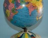 Vintage World Globe 1950s