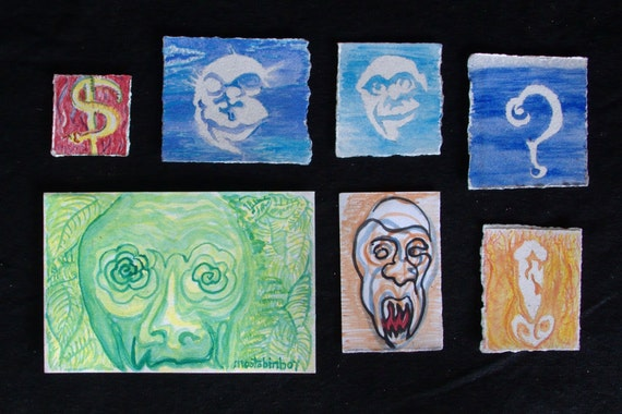 question vampire money smail card set of 5, 4x6 archival prints
