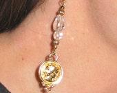 Golden Goddess Coin Earrings