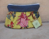 chic canvas clutch wallet vintage inspired